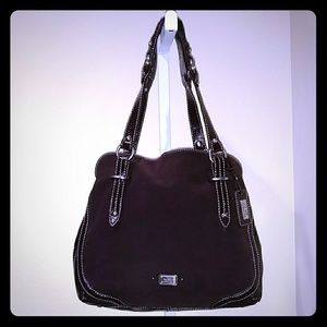 THE SAK SUEDE & PATENT LEATHER TOTE